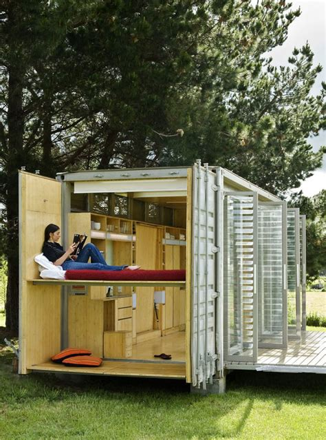 storage container houses port a bach a portable teeny tiny shipping container home
