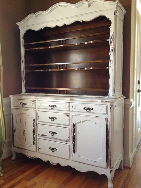 country couches for sale french provincial white distressed buffet with hutch for