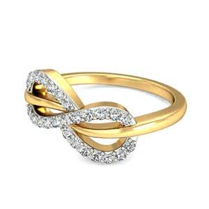 ring designs infinity design engagement ring in yellow gold jewelocean