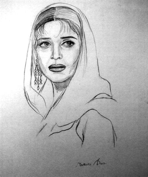 M F Hussain Sketches by Priyanka Chopra Pictures On Canvas