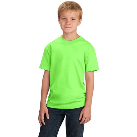 T Shirt Kid 4 port company pc54y youth 5 4 oz 100 cotton t shirt neon green fullsource