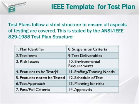 ieee 829 test plan template test planning arsala