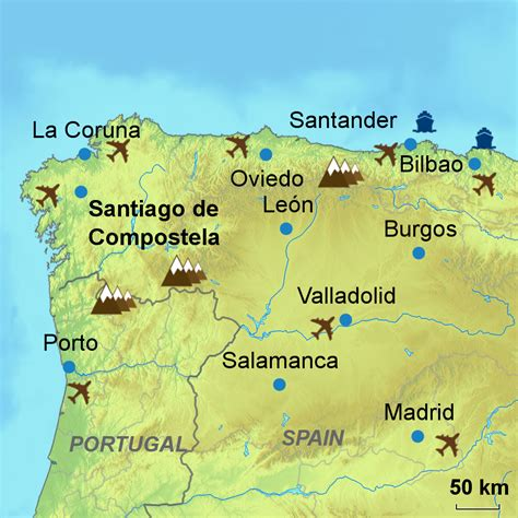 map camino de santiago popular 188 list camino de santiago map