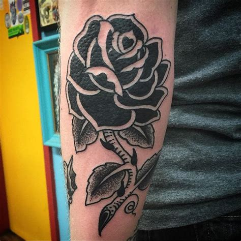 blackwork sailor jerry rose by ian quot jonezy quot jones true