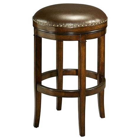30 In Bar Stools by Impacterra 30 In Naples Bay Backless Leather Bar Stool