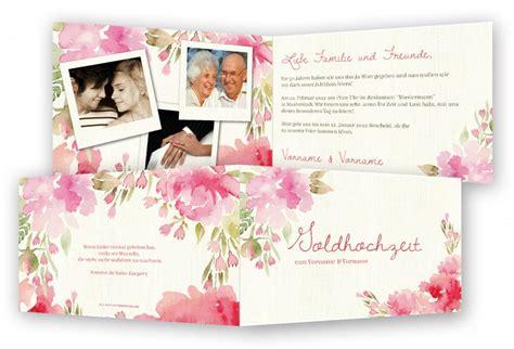 Hochzeitstag Einladung by Einladung F 252 R Goldene Hochzeit Vorlagen Feinekarten