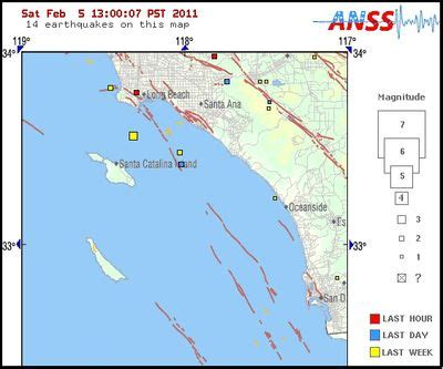 earthquake orange county two earthquakes recorded in orange county l a now los