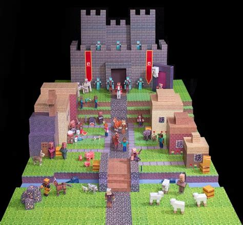 Paper Crafting Minecraft - taken from mojang bennie whitcomb s winning