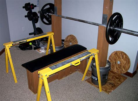 bench press safety stands homemade strength the strongest bench you ll never buy