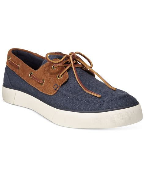 polo ralph s rylander boat shoes in blue for
