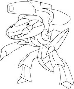 Coloriage Genesect Pokemon &224 Imprimer sketch template