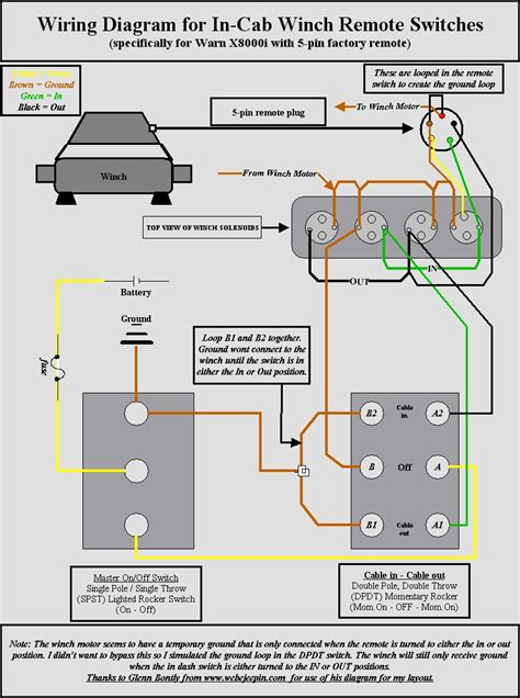 winch switch wiring diagram in cab winch warn x8000i questions page 3 road
