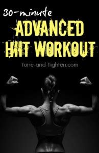 free advanced home workout plan tone and tighten