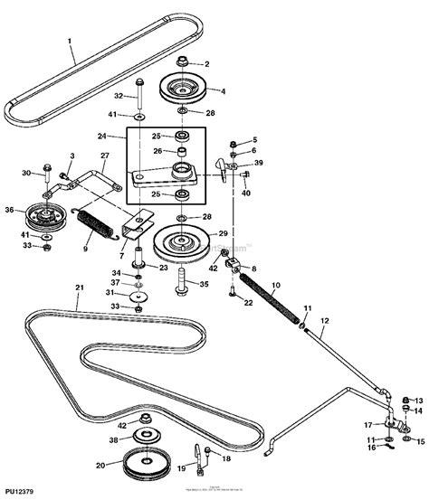 Deere X500 Deck Belt Diagram