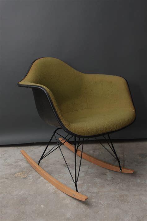vintage herman miller rocking chair vintage herman miller eames fabric rocking chair by