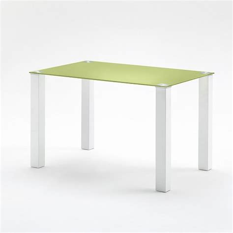 small dining table rectangular in green glass 26859