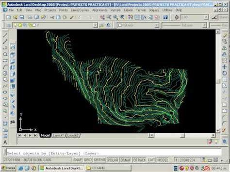 tutorial autocad curvas de nivel 06 crear superficie a partir de curvas de nivel de autocad