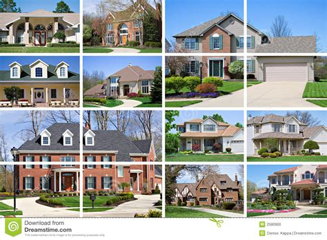 Four Square House Plans house collage stock photo image of housing neighborhood