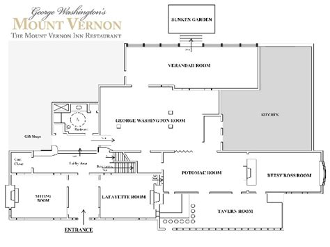 mount vernon floor plan mount vernon inn restaurant floor plan