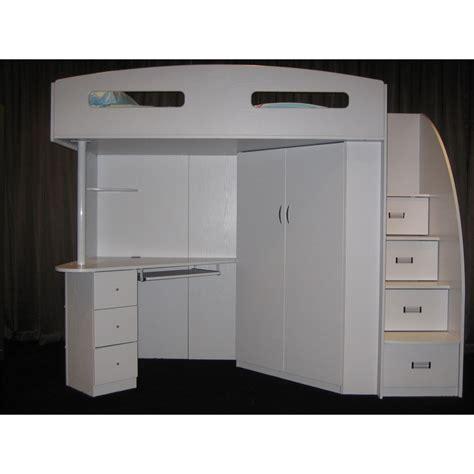 Bunk Beds With Desk Australia Octavia Study Desk Storage Bunk C1747 White Pe 5049 1 Bunk Bed Dixie Live Dixie
