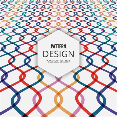 ai pattern perspective colored waves pattern with perspective vector free download
