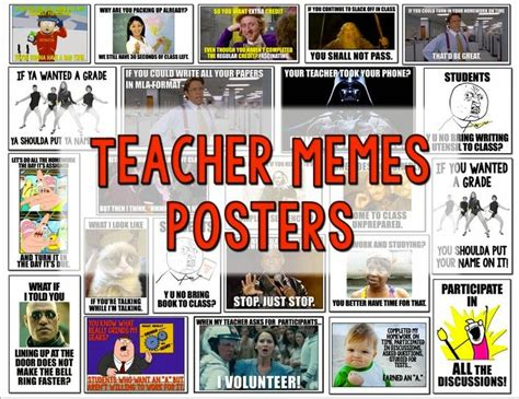 Class Rules Memes - teacher and student meme posters are great for going over