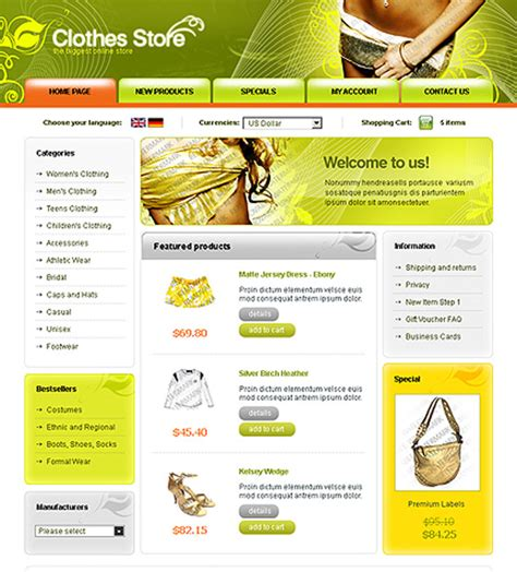 clothing website templates free 25 free psd website templates web3mantra