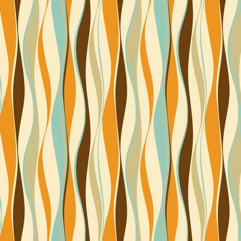 wavy fabric pattern xword wavy lines retro fabric threebranchesdesign spoonflower