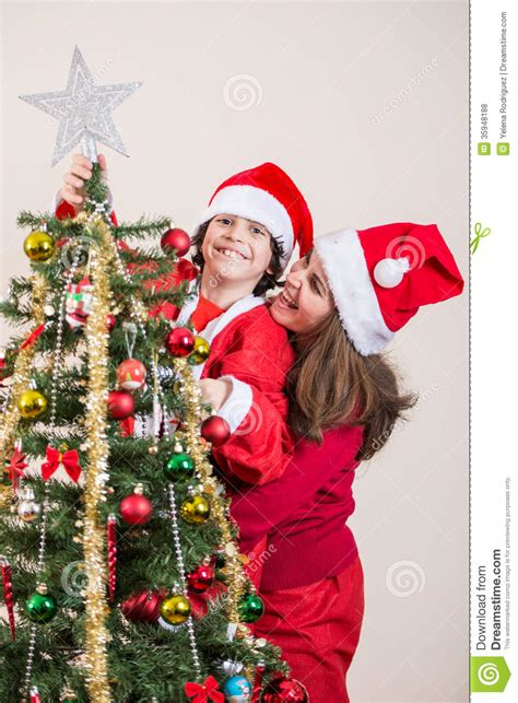 family enjoying the christmas royalty free stock photos