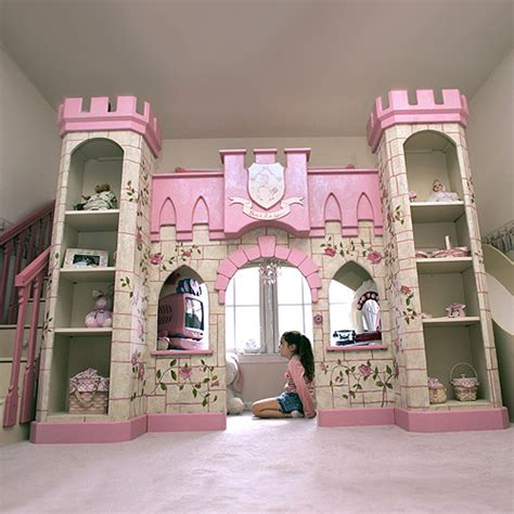 princess castle playhouse loft bed and luxury baby cribs