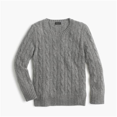in sweater cable crewneck sweater boys sweaters j crew