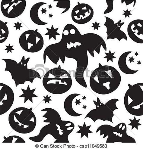 imagenes en blanco y negro de halloween vector seamless halloween patr 243 n negro fantasmas