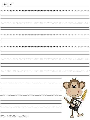 monkey writing paper fern s freebie friday curious george writing center