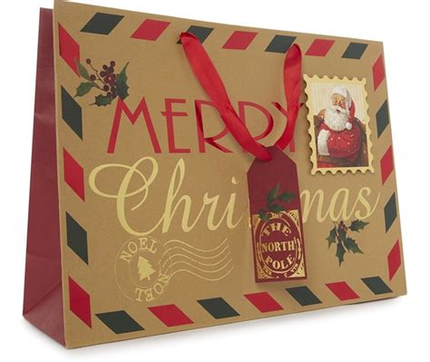 an out of ordinary traditional merry christmas gift bag