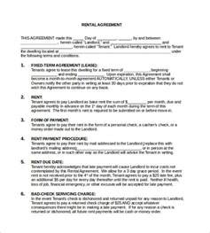 Best Month To Sign A Lease by Free Rental Agreement Template 12 Free Word Pdf