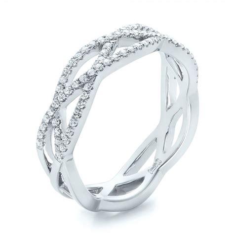 custom criss cross wedding band 102233