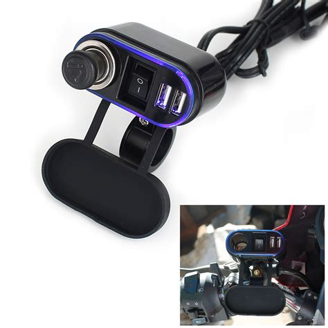 Motorcycle Usb Charger dual usb 12v car motorcycle cigarette lighter power