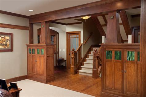 craftsman home craftsman family room columbus by craftsman home craftsman staircase columbus by