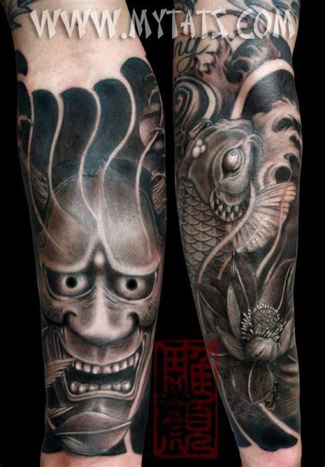 hannya mask knee tattoo 46 best images about tattoo on pinterest japanese koi