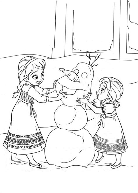frozen coloring pages and elsa and olaf free coloring pages of olaf pages