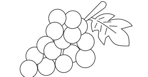 imagenes uvas para pintar dibujos para colorear y trazar