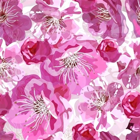 pattern bunga sakura sakura seamless pattern by evdakovka graphicriver