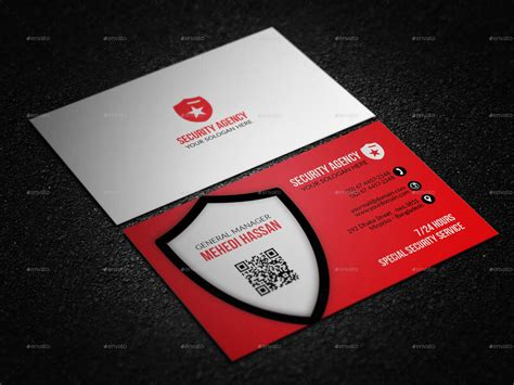 Alarm Code Card Template by Security Agency Business Card By Mehedi Hassan Graphicriver