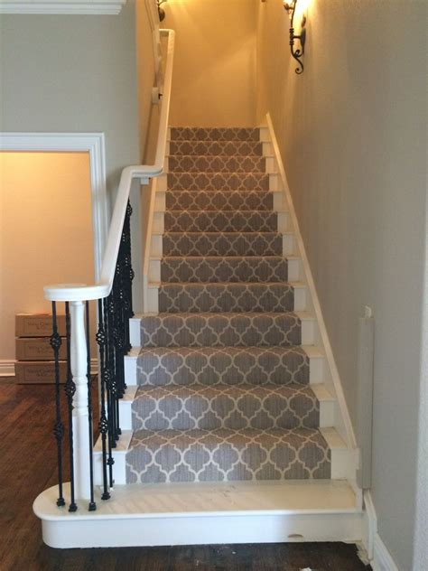 grey patterned stair carpet taza from tuftex carpets of california on the stairs very