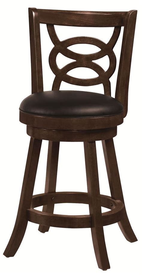 24 inch bar stools with backs set of 2 open ring design cappuccino swivel 24 inch bar stools
