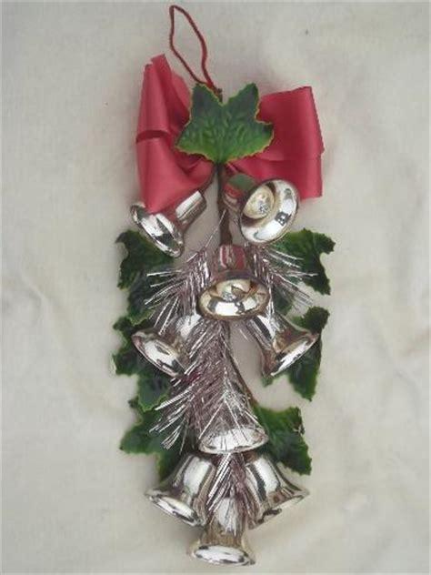 christmas bells door decoration silver bells vintage wall ornament door decoration