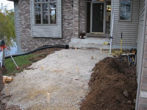 installing paver patio base renovated front yard ecoscapes