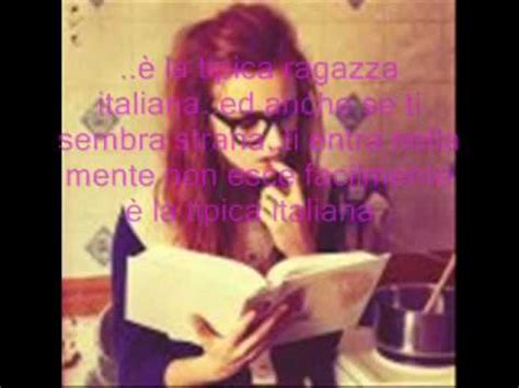 tipica ragazza italiana testo mod 224 favola testo doovi