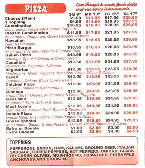 pizza dinner menu menu hogs back restaurant pizza delivery ottawa hogs