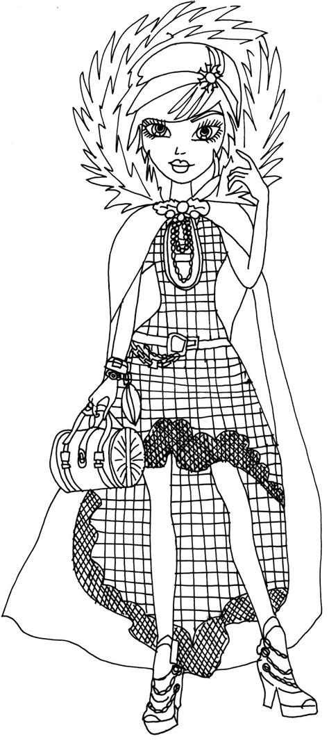 ever after high coloring pages legacy day free printable ever after high coloring pages cerise hood